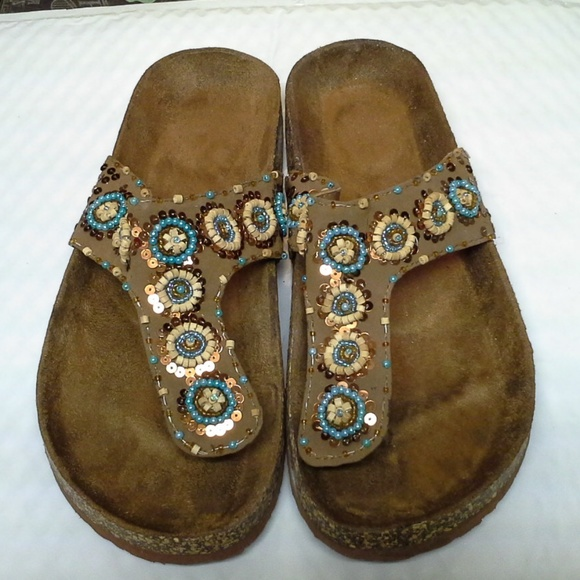 ba837be5c676 Avon Shoes -  HOST PICK  Thong Sandals with Sequins   Beads
